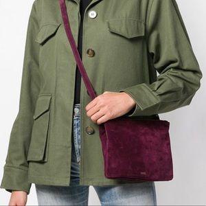 Genuine Suede Crossbody Bag